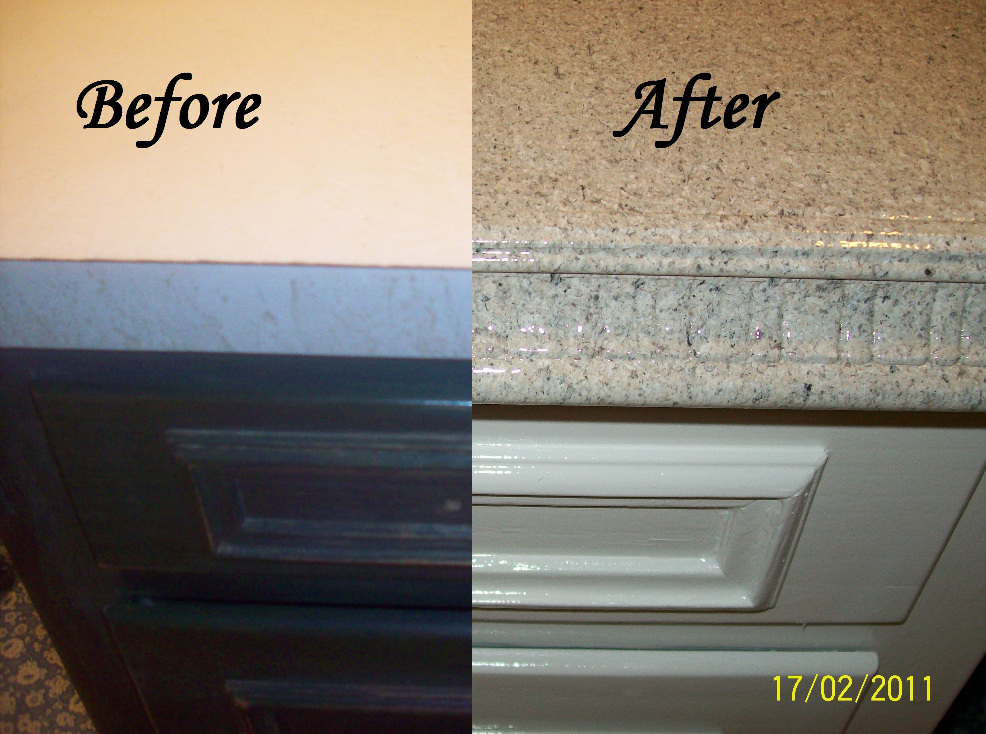 mini kitchen makeover with countertop counter fleck trendy beautiful restore kates rustoleum restoration