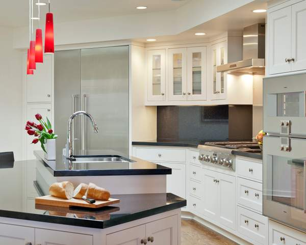 San Francisco Sunset Transitional Kitchen with Island