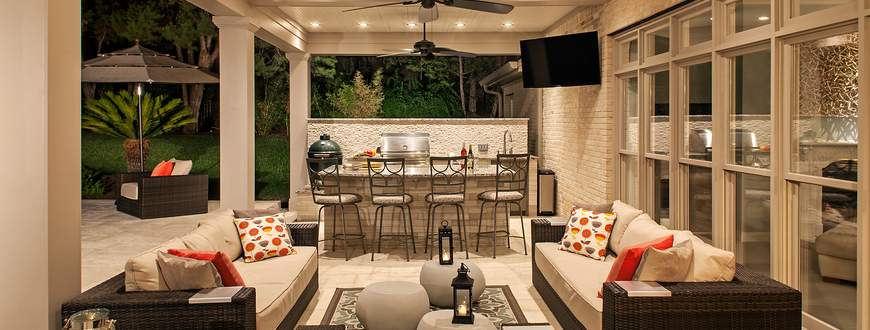 Connecting To The Outdoors This backyard and pool were stranded and had no relation to the house. CG&S collaborated with the clients to create a po...