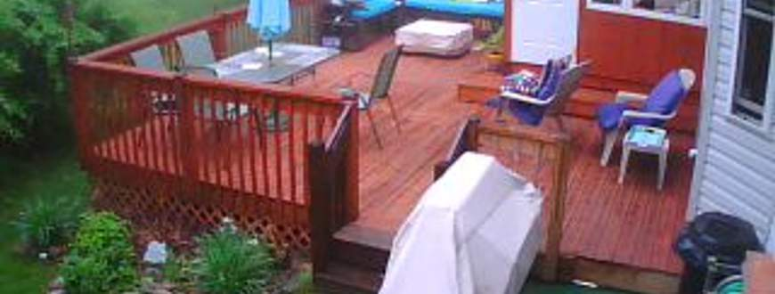 Deck with sunroom
