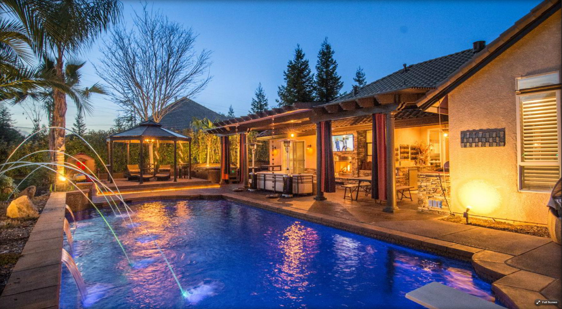 Photos From Backyard Escapes Pool With Lighted Laminar Water Features