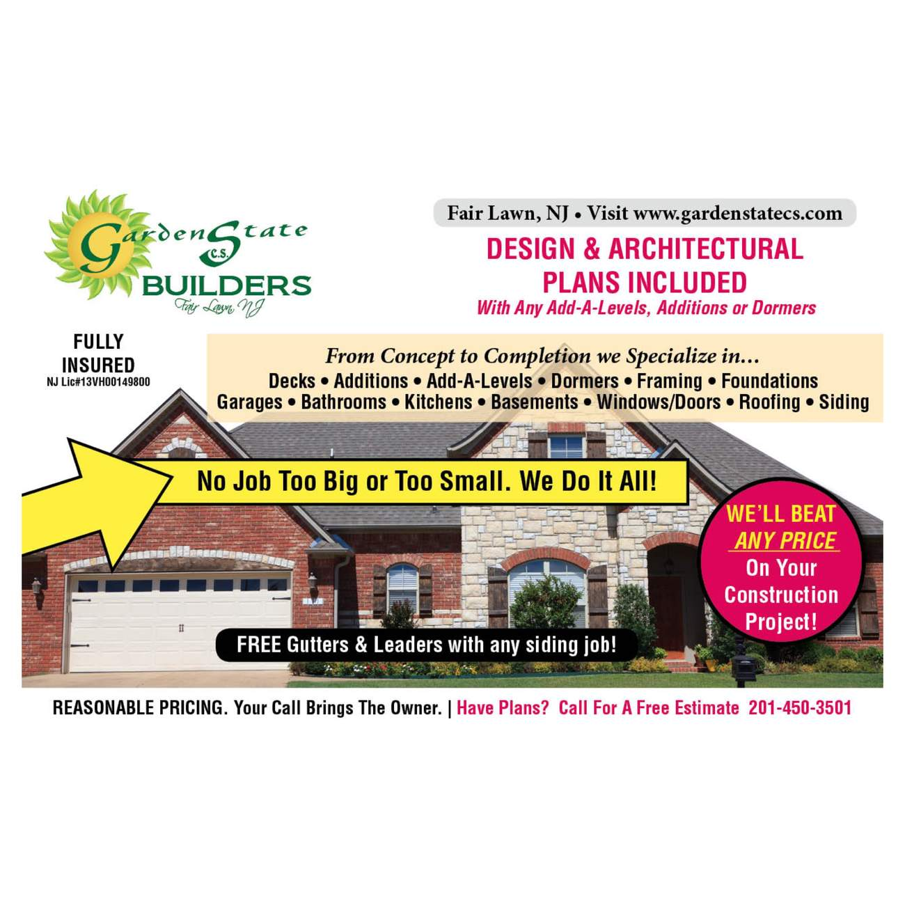 Garden State Cs Builders | Save Money by Getting Multiple Bids