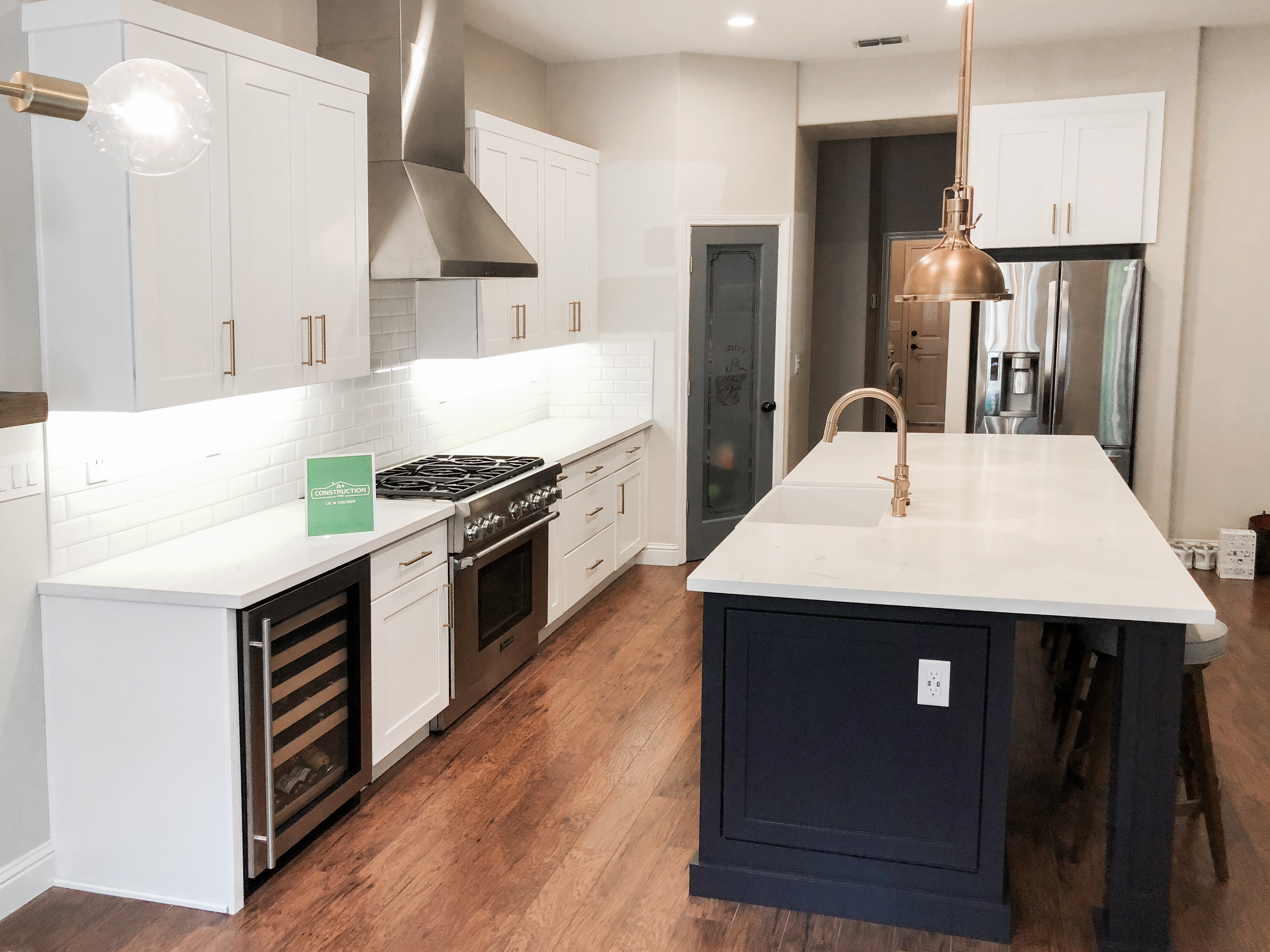 Kitchen Remodel With Custom Cabinets In Roseville, Ca