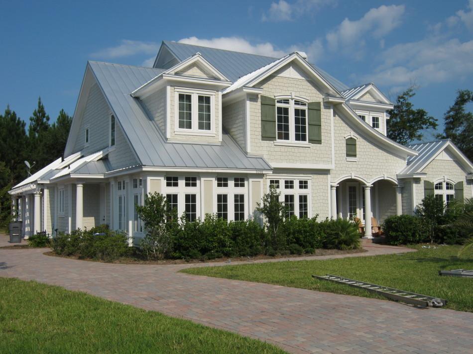 Horlbeck Residence Standing Seam Concealed Fastener Metal Roof, Self  Adhering Rubberized Membrane Underlayment. 2